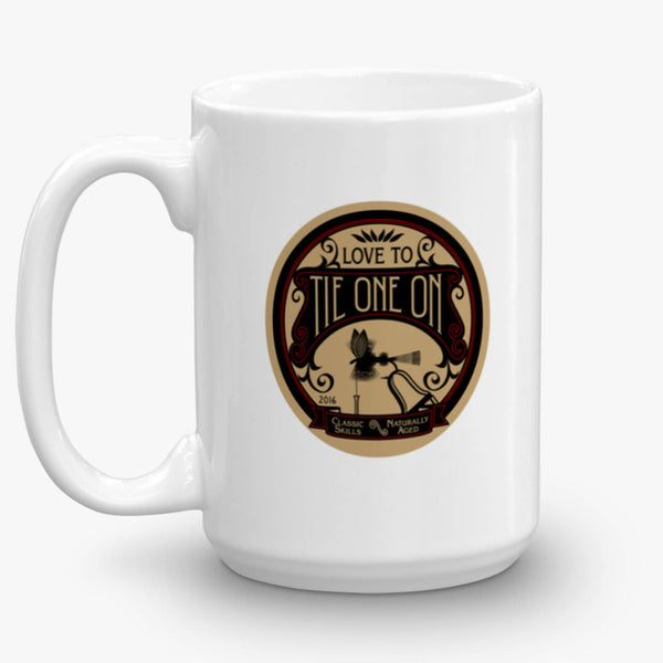 Tie One On, coffee mug, 15 oz, rear