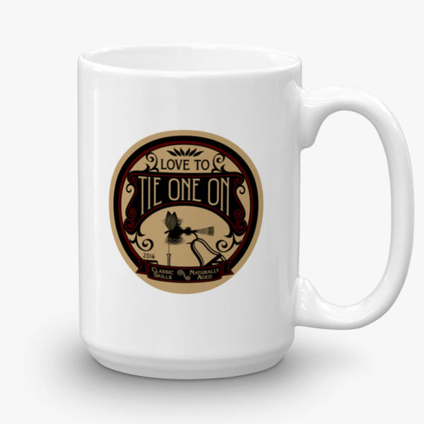 Tie One On, coffee mug, 15 oz, front