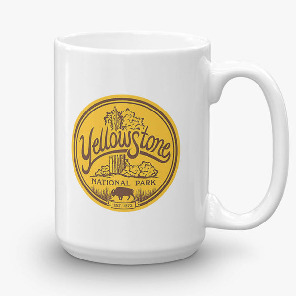 Yellowstone National Park, coffee mug, 15 oz, front