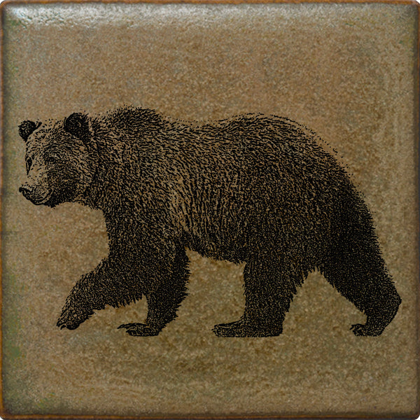 Grizzly Bear | Illustrated Wildlife Tile