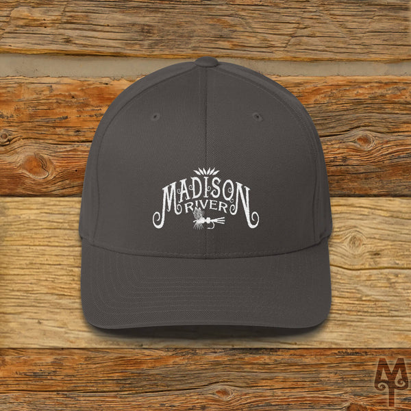 Madison River, Fly Fishing Ball Cap, Dark Grey