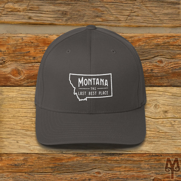 Montana The Last Best Place, Ball Cap, Dark Grey