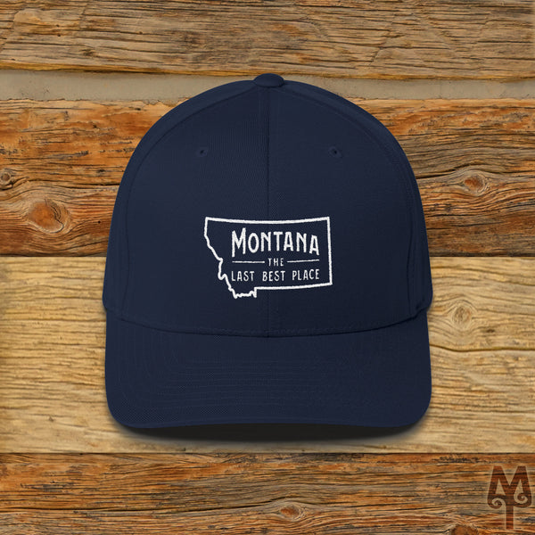Montana The Last Best Place, Ball Cap, Dark Navy