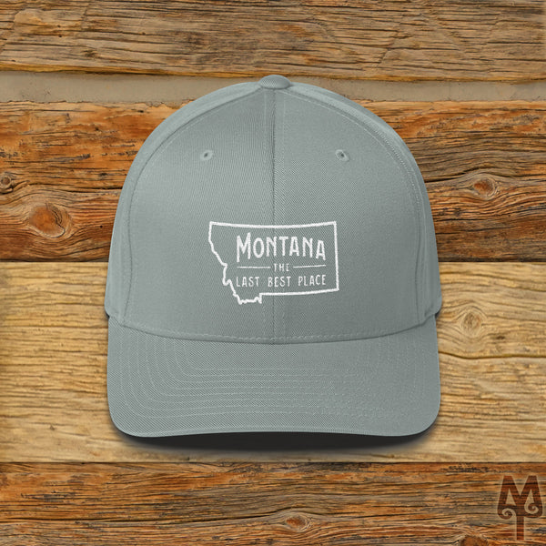 Montana The Last Best Place, Ball Cap, Grey