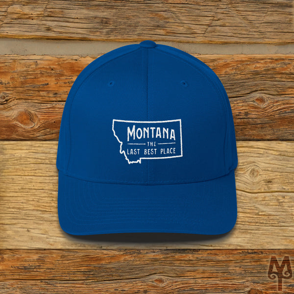 Montana The Last Best Place, Ball Cap, Royal Blue