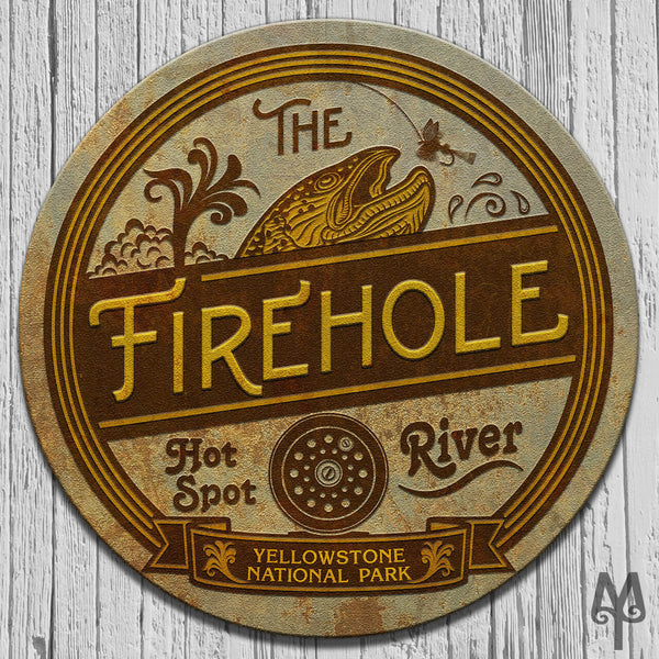 Vintage Firehole River, Wall Sign