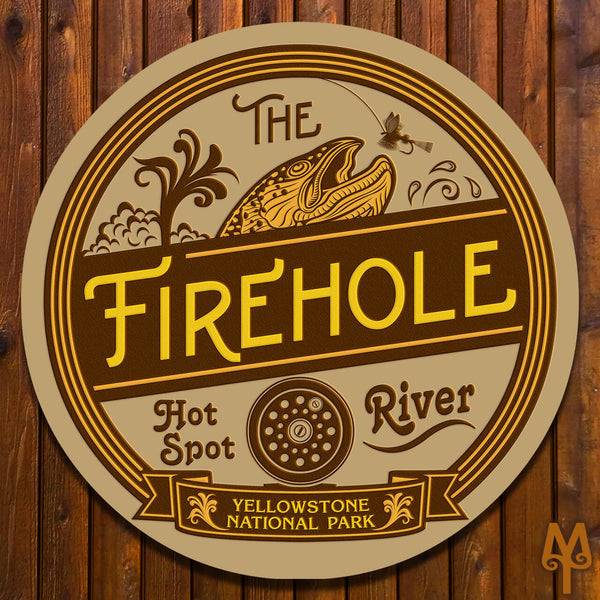 New Firehole River, Wall Sign