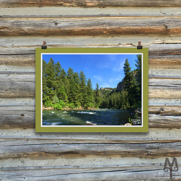 Gallatin River, Squaw Creek, unframed poster