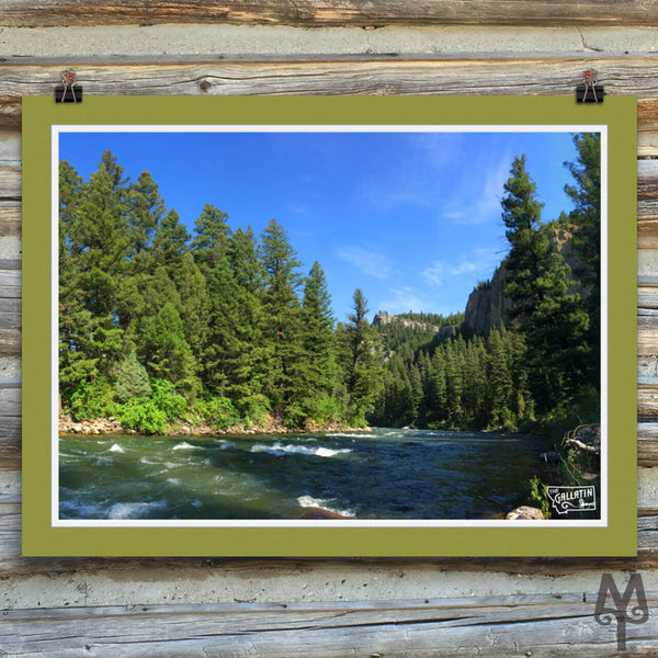 Gallatin River, Squaw Creek, unframed poster, 24 X 18