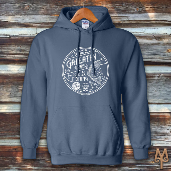 Gallatin River Gone Fishing, Hoodie Sweatshirt