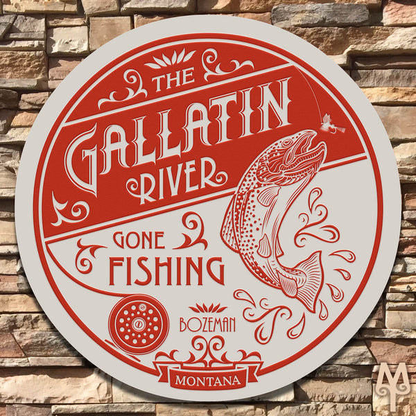 New Gallatin River, Wall Sign