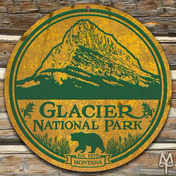 Vintage Glacier National Park, Wall Sign