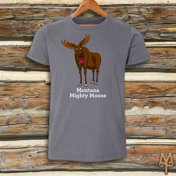 Montana Mighty Moose, Youth Short Sleeve T-Shirt