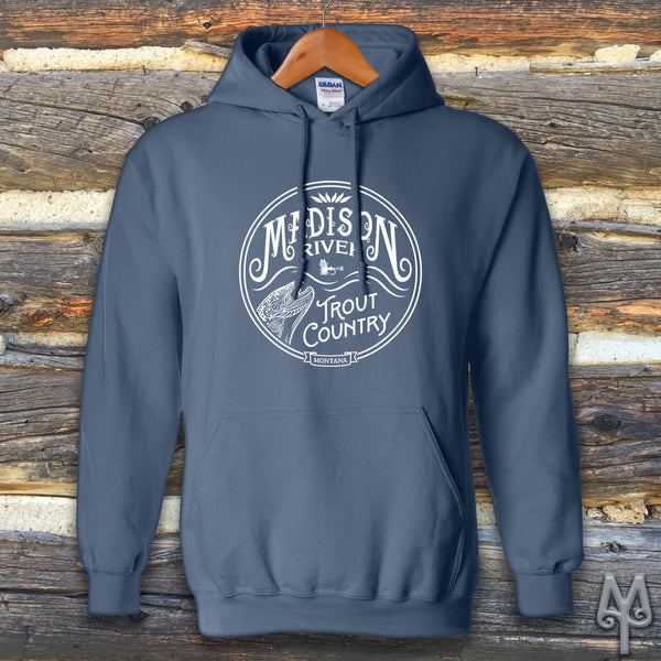 Madison River Trout Country, Hoodie Sweatshirt
