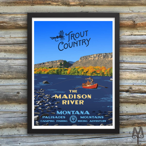 Madison River, Trout Country, new framed poster