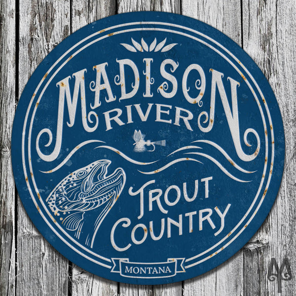 Vintage Madison River, Wall Sign
