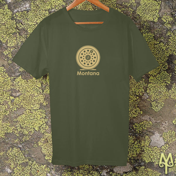 Montana Fly Reel, t-shirt, Olive