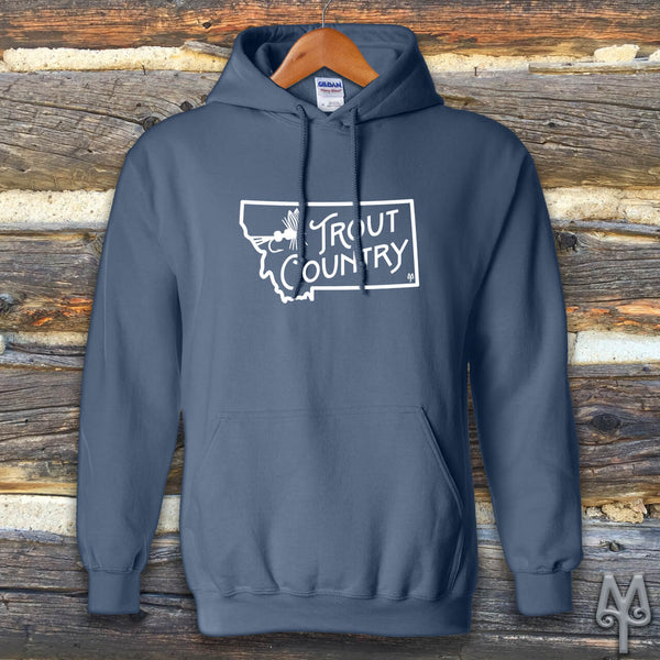 Montana Trout Country, Hoodie Sweatshirt