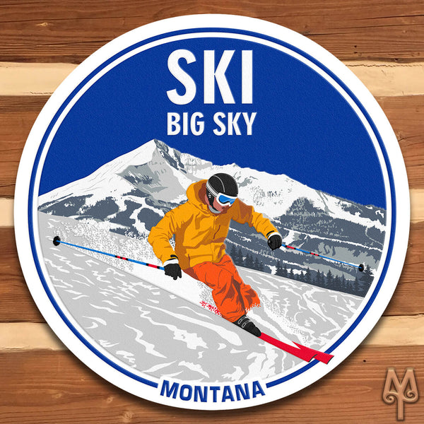 New Ski Big Sky, Montana, Wall Sign