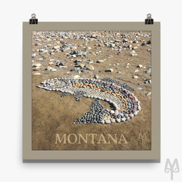 Rock Trout, matted unframed poster