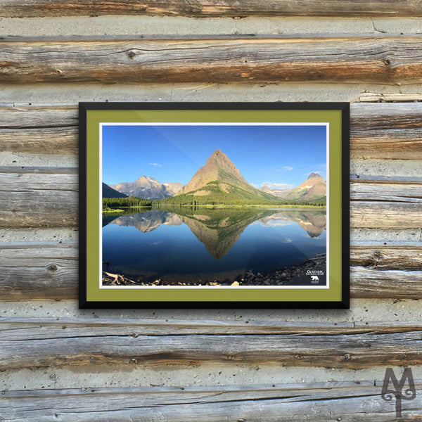 Swiftcurrent Lake, framed poster