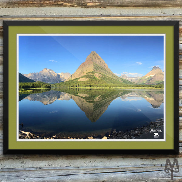 Swiftcurrent Lake, framed poster, 24 X 18