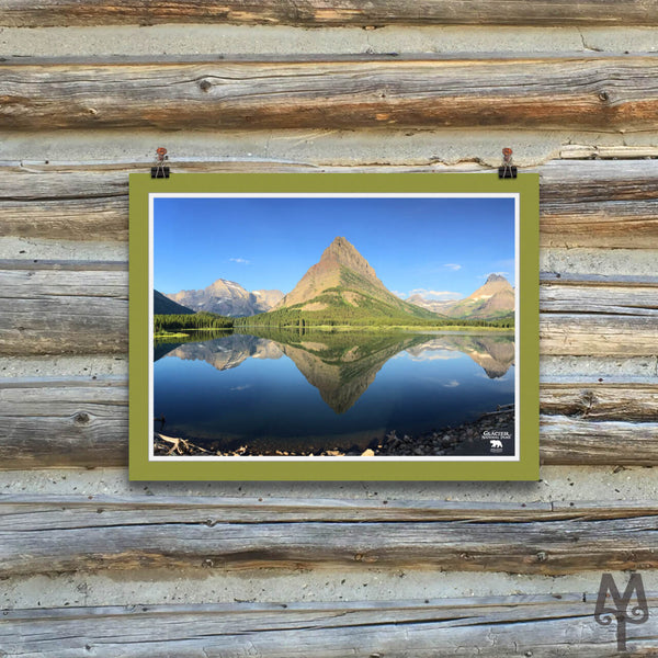 Swiftcurrent Lake, unframed poster, 16 X 12