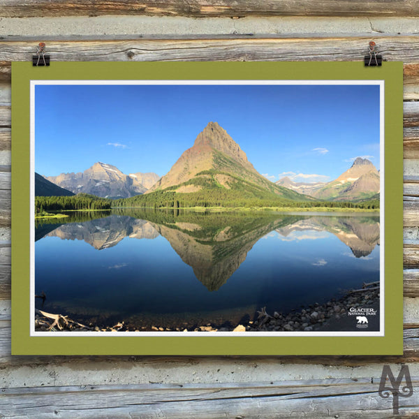 Swiftcurrent Lake, unframed poster, 24 X 18