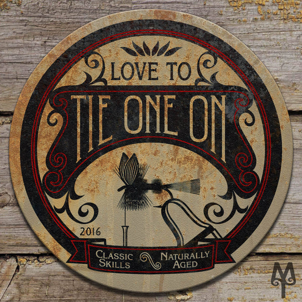 Vintage Tie One On, Wall Sign