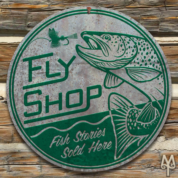 Vintage Fly Shop, Wall Sign