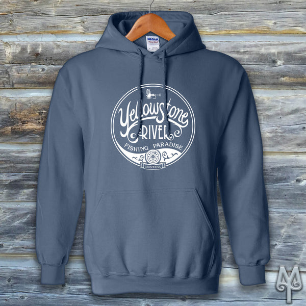 Yellowstone River Fishing Paradise, Hoodie Sweatshirt