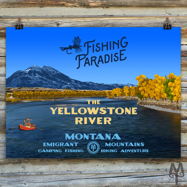 Yellowstone River, Fishing Paradise, new unframed poster