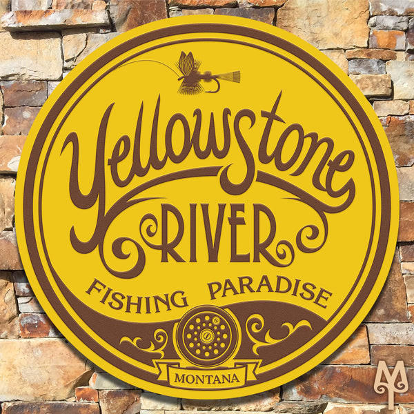New Yellowstone River, Wall Sign
