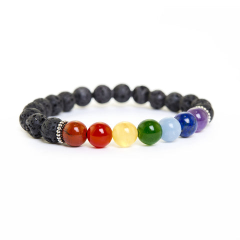 8 mm Lava Bead iPEC Energy Level Bracelet