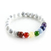 8 mm Howlite Bead iPEC Energy Level Bracelet