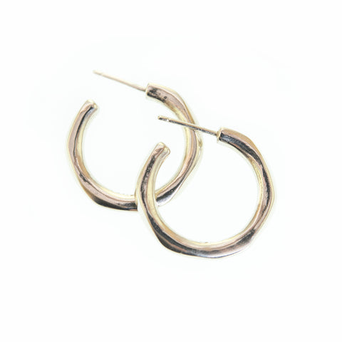 'Dinah' Sterling Silver Hoops
