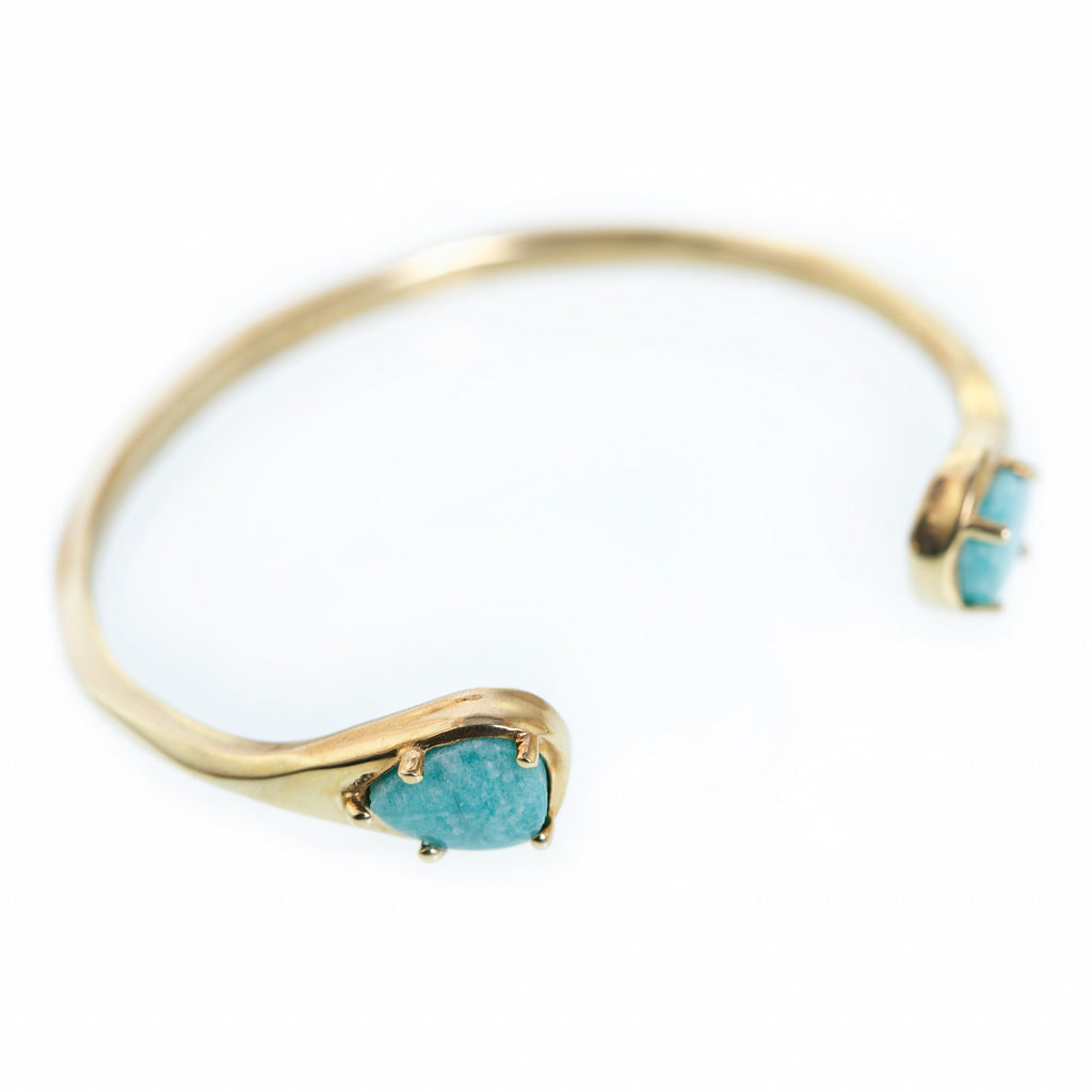 'Billie' Bronze Cuff (with Amazonite)