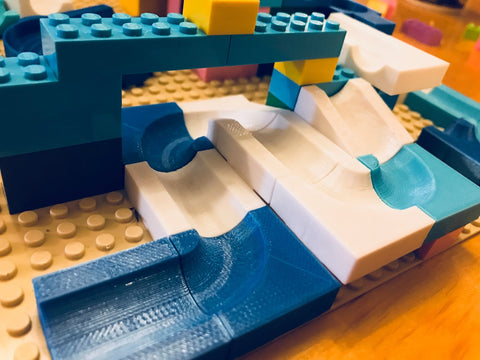 Marble Run LEGO Brick Compatible Custom 3D Printed