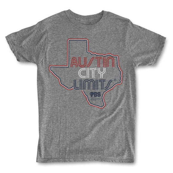 Men's ACL Texas Outline T-Shirt - Heather Grey