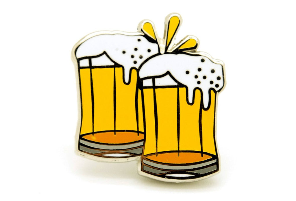 Cheers Beer Mugs Pin