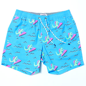 DINO RIPPER SHORT NEON BLUE | Party Pants | S |