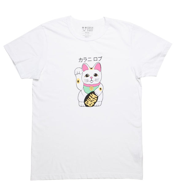 Lucky Cat S/S Tee WHT | CATCH SURF | S |