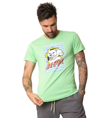 BEATER RIP SS TEE LIME GREEN