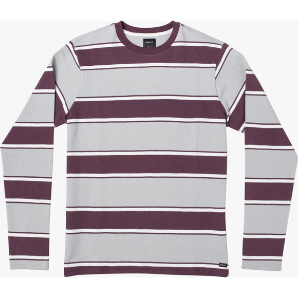 REDUCER STRIPE LONG SLEEVE | RVCA | Oxblood Red |