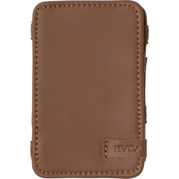 LEATHER MAGIC WALLET WALLET | RVCA | Tan |