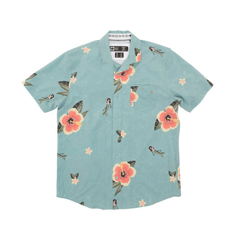 TRADEWINDS TEAL S/S TECH WOVEN
