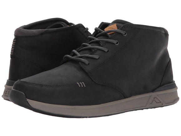 REEF Rover Mid Blk/Grey Oiled Leather