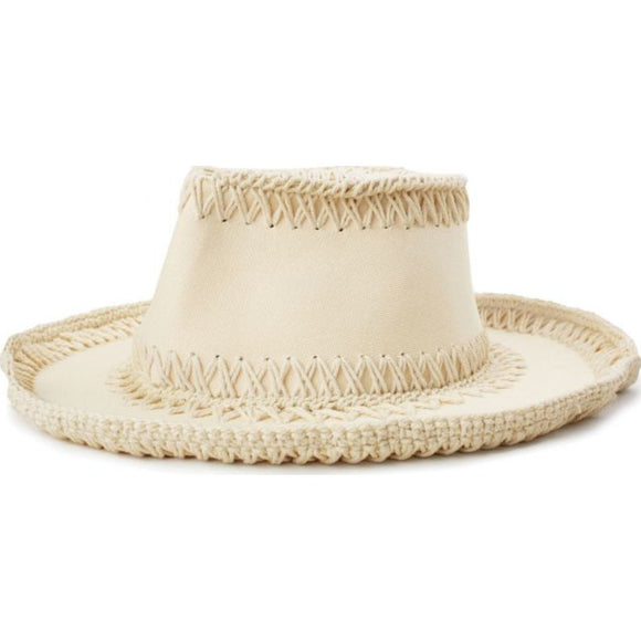 JOANNA COTTON HAT - OFF WHITE