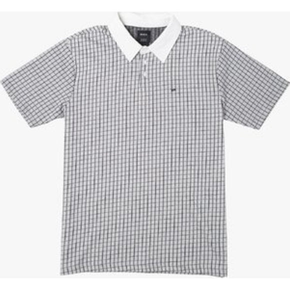 FREEMAN SHORT SLEEVE KNIT POLO | RVCA | Antique White |