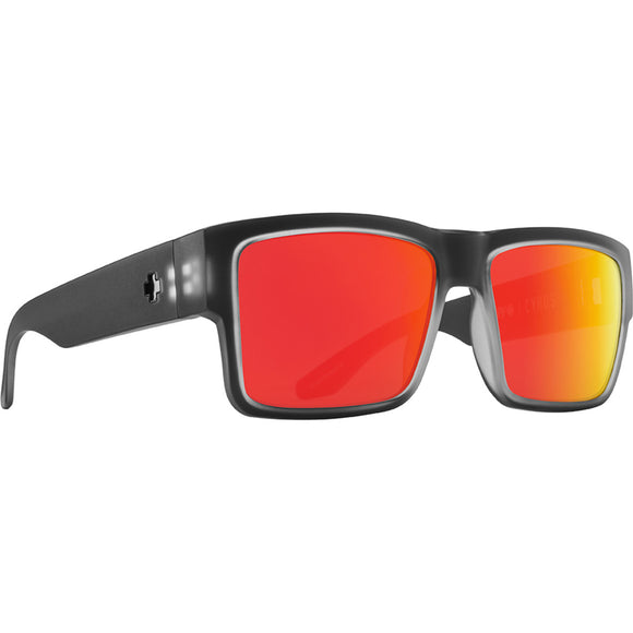 Cyrus Matte Black Ice- HD Plus Gray Green Polar with Red Spectra Mirror